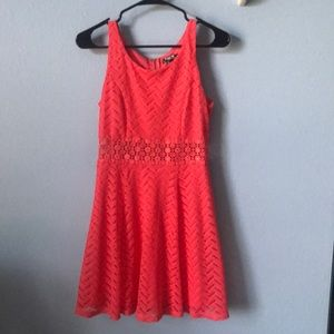coral colored summer dress